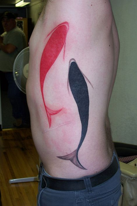 Awesome Fish Tattoo on Left Side