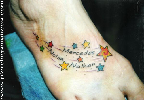 Awesome foot tattoo by Heidi Serth