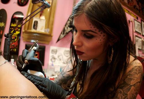 Kat Von D Facial star tattoo picture