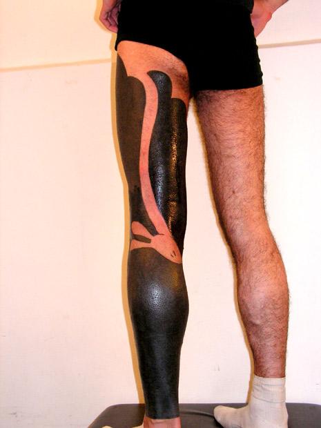Leg tattoo by Lionel