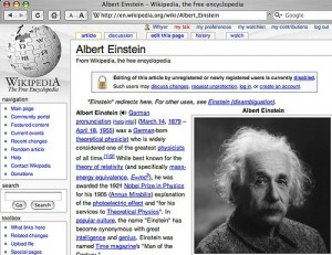 albert einstein wikipedia page