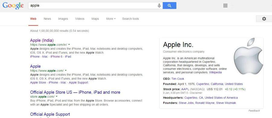 Apple Knowledge Graph